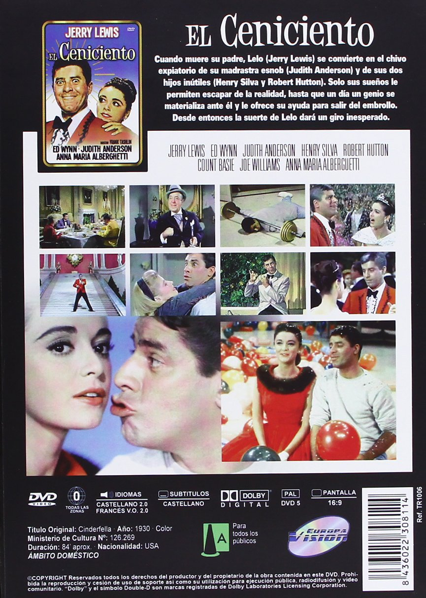 Amazon.com: El Ceniciento (Import Movie) (European Format - Zone 2) (2013) Jerry Lewis; Ed Wynn; Judith Anderson; Henry: Movies & TV