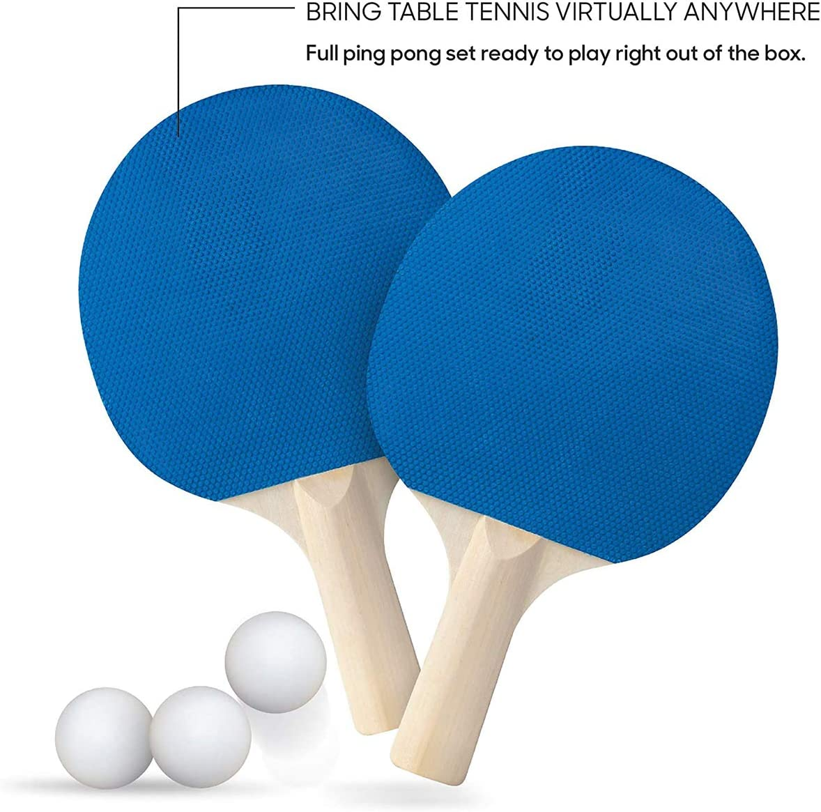 Balls Portable Ping Pong Paddle Set with Retractable Net and Posts Regulation Table Tennis Accessories Advanced Home Indoor or Outdoor Play Storage Case