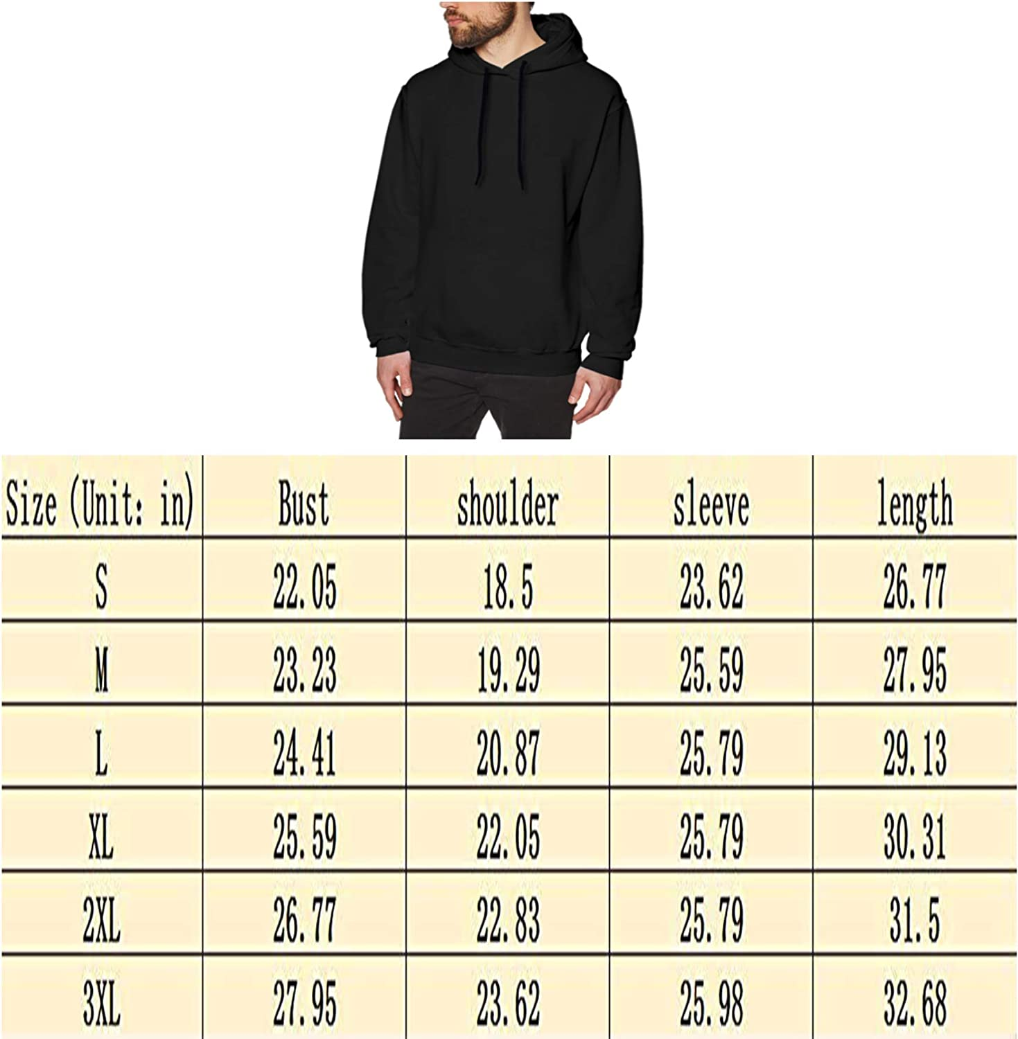 VIIHAHN Mens Casual RWBY Ruby Design Gift Pullover Hoodies