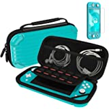 Carry Case for Nintendo Switch Lite Portable Travel Protector Carrying Case with 10 Game Slots and Tempered Glass Screen Prot