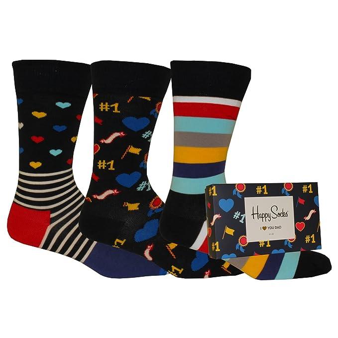 tecniche moderne qualità stabile attraente e resistente Happy Socks I Love You Dad Calzini, Multicolour, Large ...