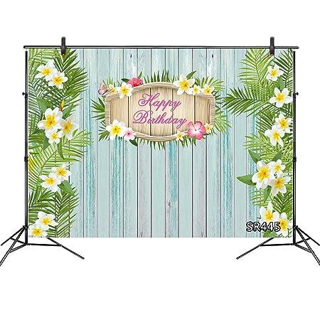 LB 210x150cm Vinilo Feliz cumpleaños Fondo Flor Blanca ...