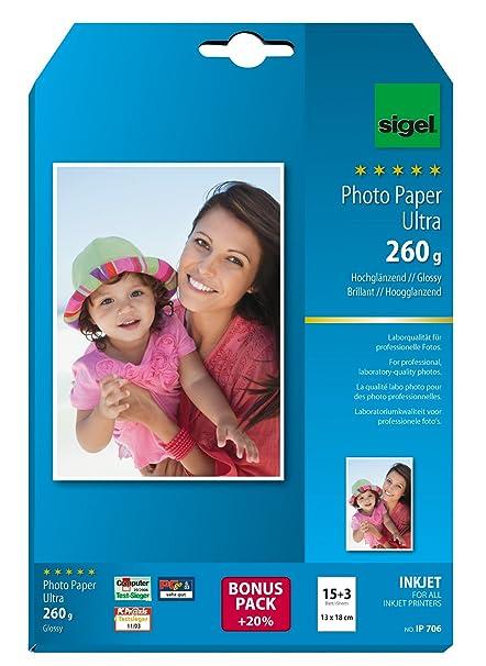 SIGEL IP706 Papel fotográfico profesional para impresoras ...