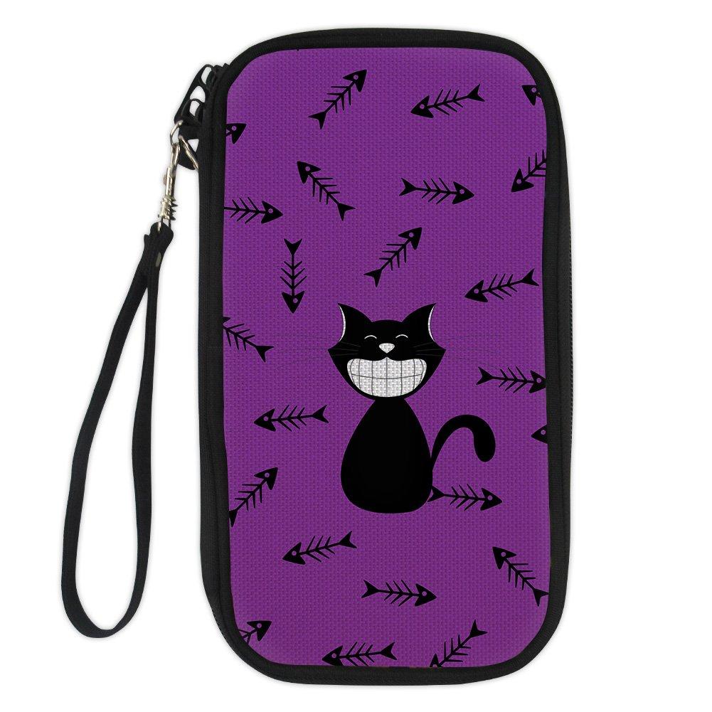 Amzbeauty Cute Passport Holder for Girls Cartoon Cats Customized Travel Wallet