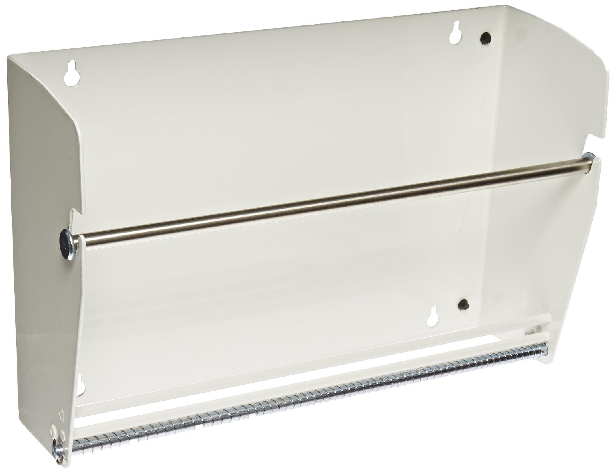Aviditi LDM1250 Metal Wall Mount Label Dispenser, 12-1/2'' Width, Off White