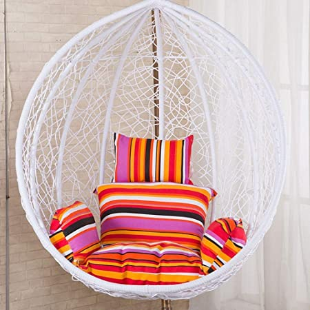 Rattan Swing Chair Hanging Garden Patio Indoor Outdoor Egg Chair With Stand Cushion Garden Color Orange No Chair Amazon Co Uk Kitchen Home