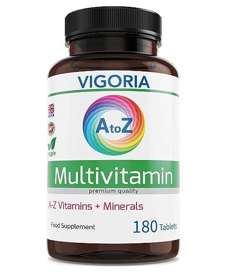 Multivitaminas con Minerales y Hierro - Fortalece el sistema inmunológico, el corazón y el cerebro - Alivia el cansancio y la fatiga - Aumenta el ...
