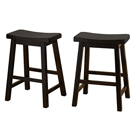 Astonishing Target Marketing Systems Set Of 2 24 Inch Belfast Wooden Saddle Stools Set Of 2 Black Pdpeps Interior Chair Design Pdpepsorg
