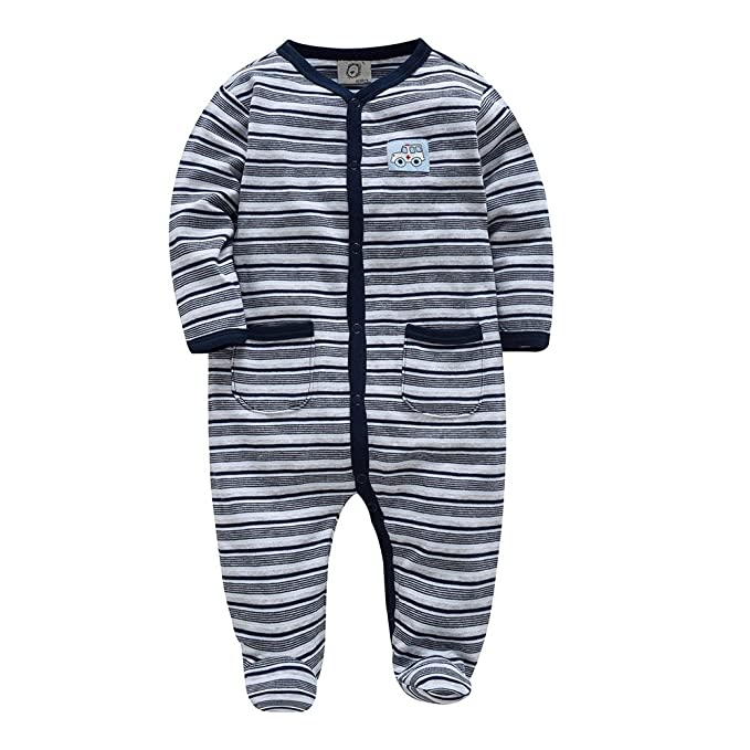 39563a0e0 Amazon.com  Fairy Baby Newborn Baby Boys Girls Outfit Stripe Footed ...