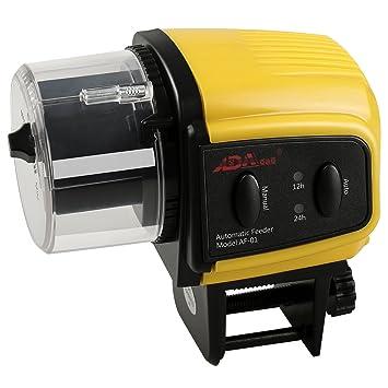 Alimentador Peces Automático BIGWING Style Temporizador Dispensador de Comida Acuario Pecera Viene: Amazon.es: Jardín