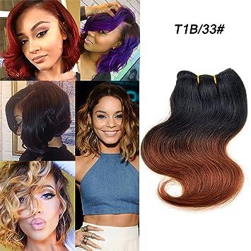5edfca0b875 Amazon.com : 8 Inch Two Tone Peruvian Body Wave Virgin Hair 10 ...