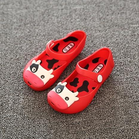 Gugutogo Zapatos de niños estilo leche de vaca Color de jalea Cierre de correa de hebilla