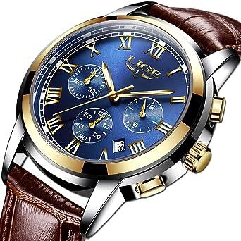 Amazon.com: Reloj de pulsera para hombre, resistente al agua ...