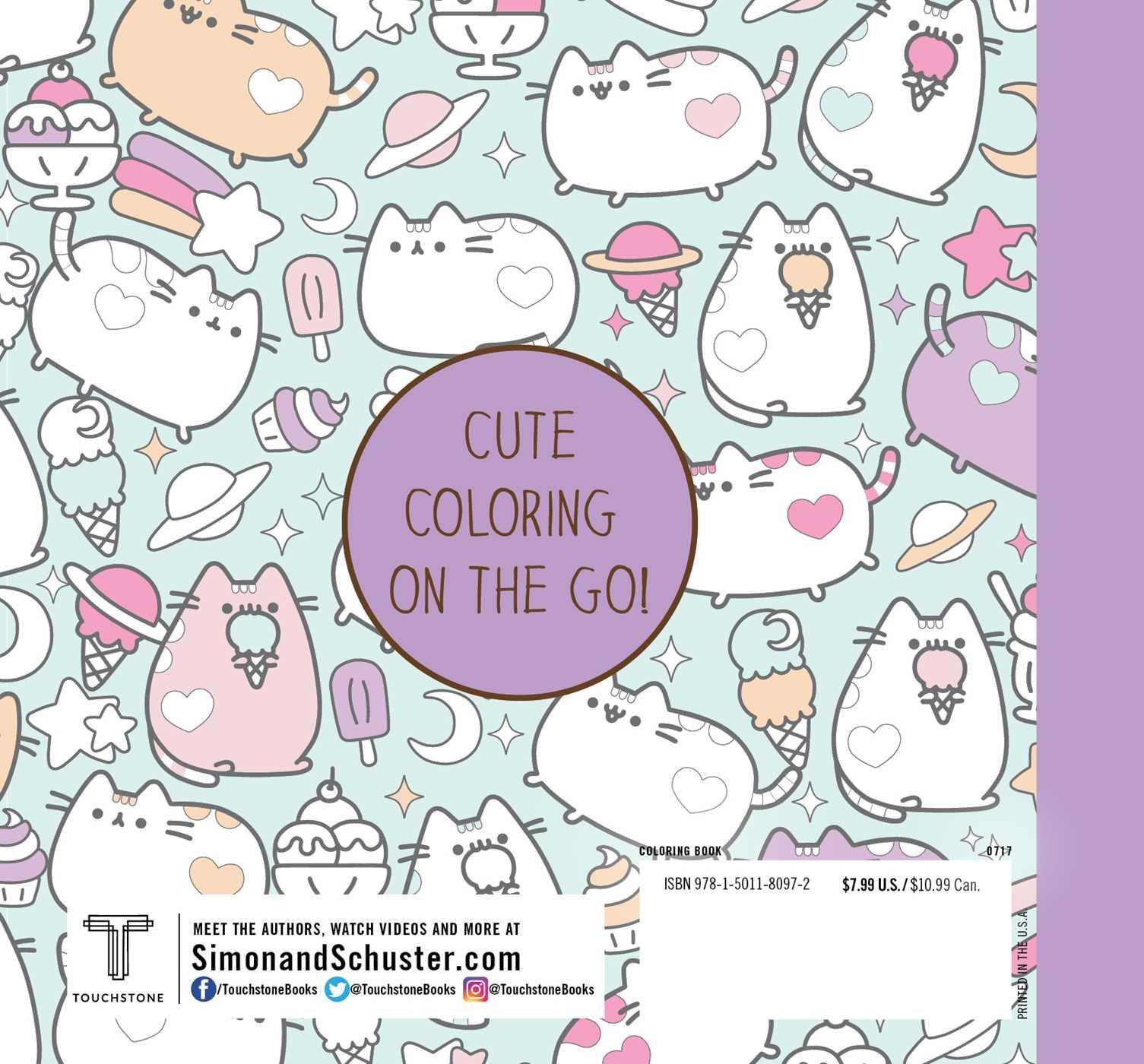 amazon com mini pusheen coloring book 9781501180972 claire