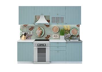 Küche Hellblau küche provence 240 cm küchenzeile einbauküche küchenblock