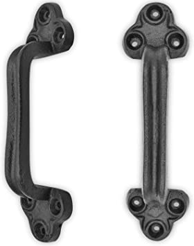 """9/"""" cast iron Door Handles Pull Drawer rustic antique style Gate Barn"""