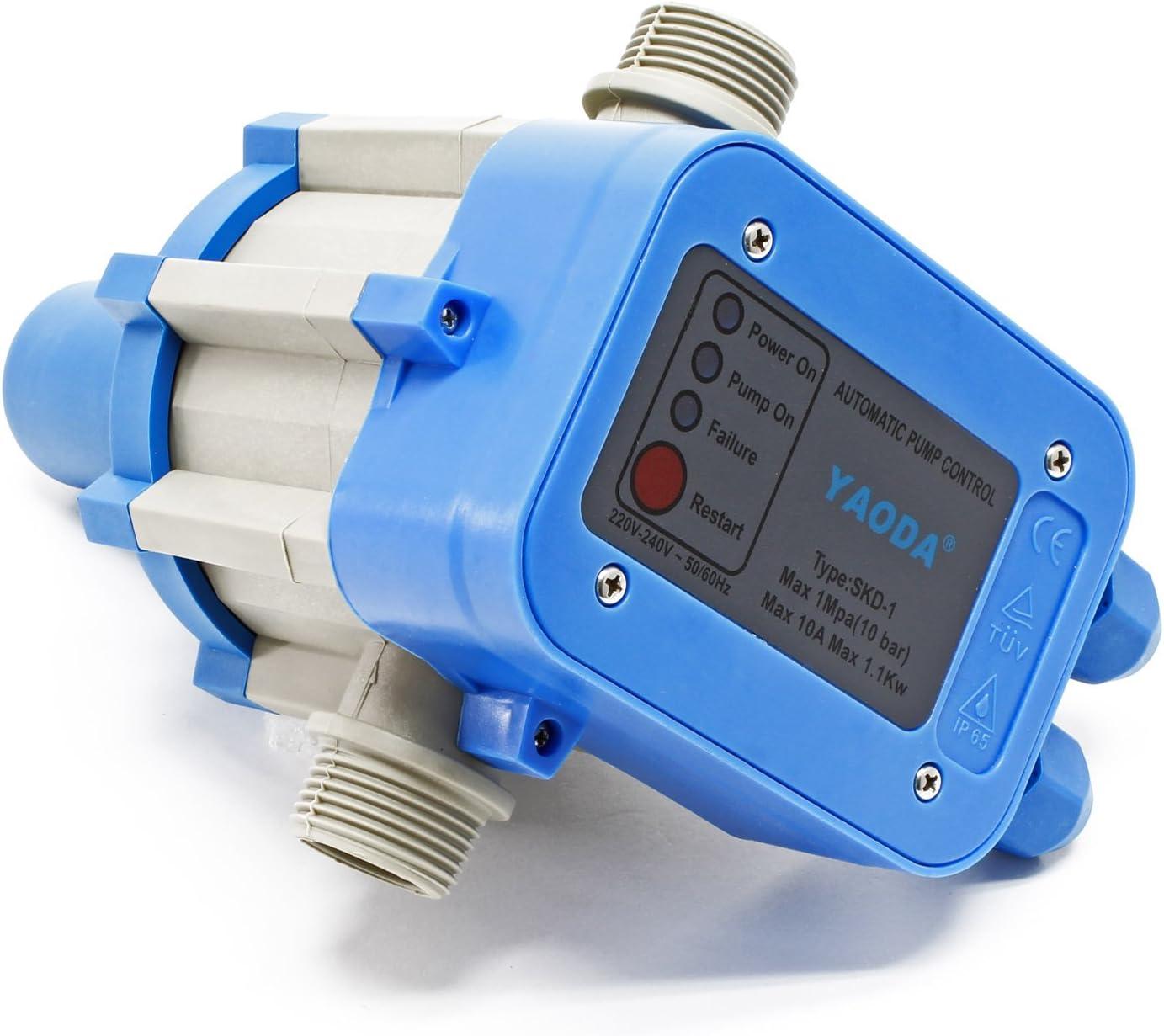 SKD-5 Druckschalter Druckwächter Trockenlaufschutz Pumpensteuerung Gartenpumpe #