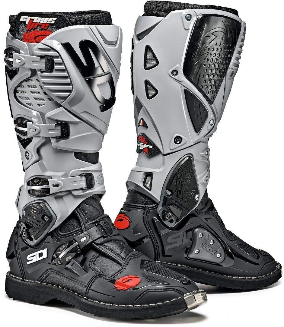 11//45, Black//Ash Sidi Crossfire 3 TA Offroad Boots