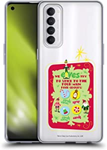 Head Case Designs Officially Licensed Elf Movie Food Groups Graphics 1 Soft Gel Case Compatible with Oppo Reno 4 Pro