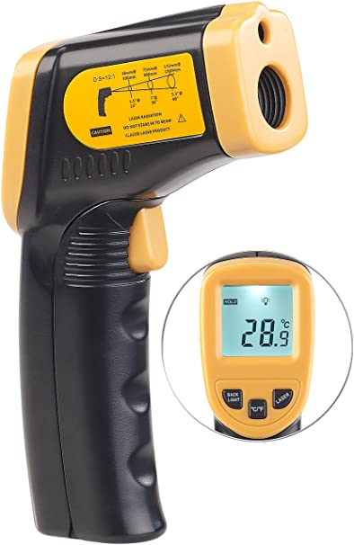 Agt Berührungsloses Infrarot Thermometer M Laserpointer 50 Bis 550 C Garten