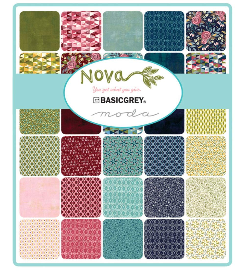 Nova Jelly Roll 40 2.5-inch Strips by BasicGrey for Moda Fabrics