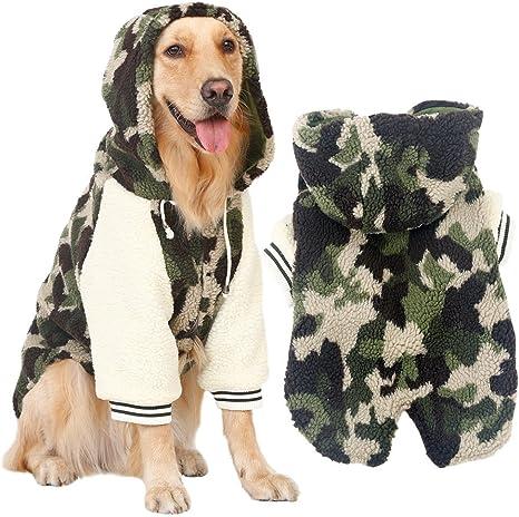 Disfraz de cachemira para mascotas de Kuuboo de estilo dorado para perros grandes como labrador o collie perfecto para oto/ño e invierno