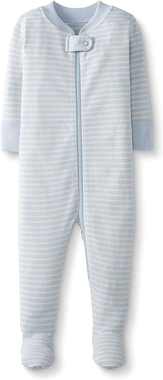 Moon and Back de Hanna Andersson - Pijama de una pieza con pies hecho de algodón orgánico para bebé, Azul, 3-6 messes (56-67 CM): Amazon.es: Ropa y accesorios