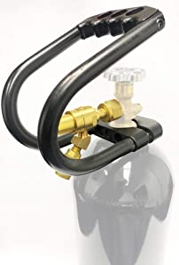 High Flow 150 PSI Fixed Flow Carbon Dioxide Piston Regulator for Tire Inflation with 10# Co2 Tank Handle Kit