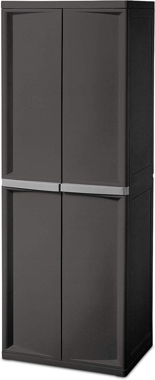 4. Sterilite 4-Shelf Cabinet
