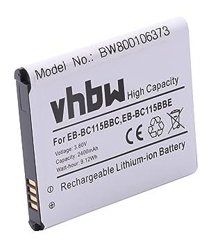 Batería vhbw 2400mAh para Smartphone Samsung Galaxy S5 Zoom ...