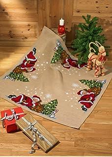 Sleeping Santa Tree Skirt Cross Stitch Kit
