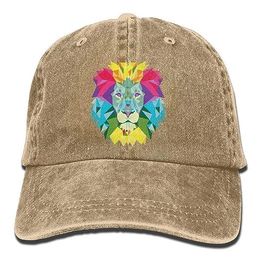 ac897aa5 Amazon.com: FbaPan Denim Baseball Cap Abstract Lion Unisex Golf Hats ...