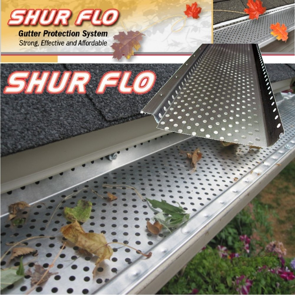 (200 feet) Shur Flo Leaf Guard Gutter Protector for 6'' K-Style Gutters. Mill Finish Aluminum. 50 panels x 4.00' each.