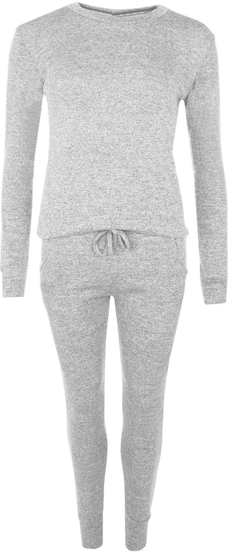 30e17a86e636f New Womens Plus Size Loungewear Suit Long Sleeve Top Trousers Set Jogging  Bottoms UK 14-28  Amazon.co.uk  Clothing