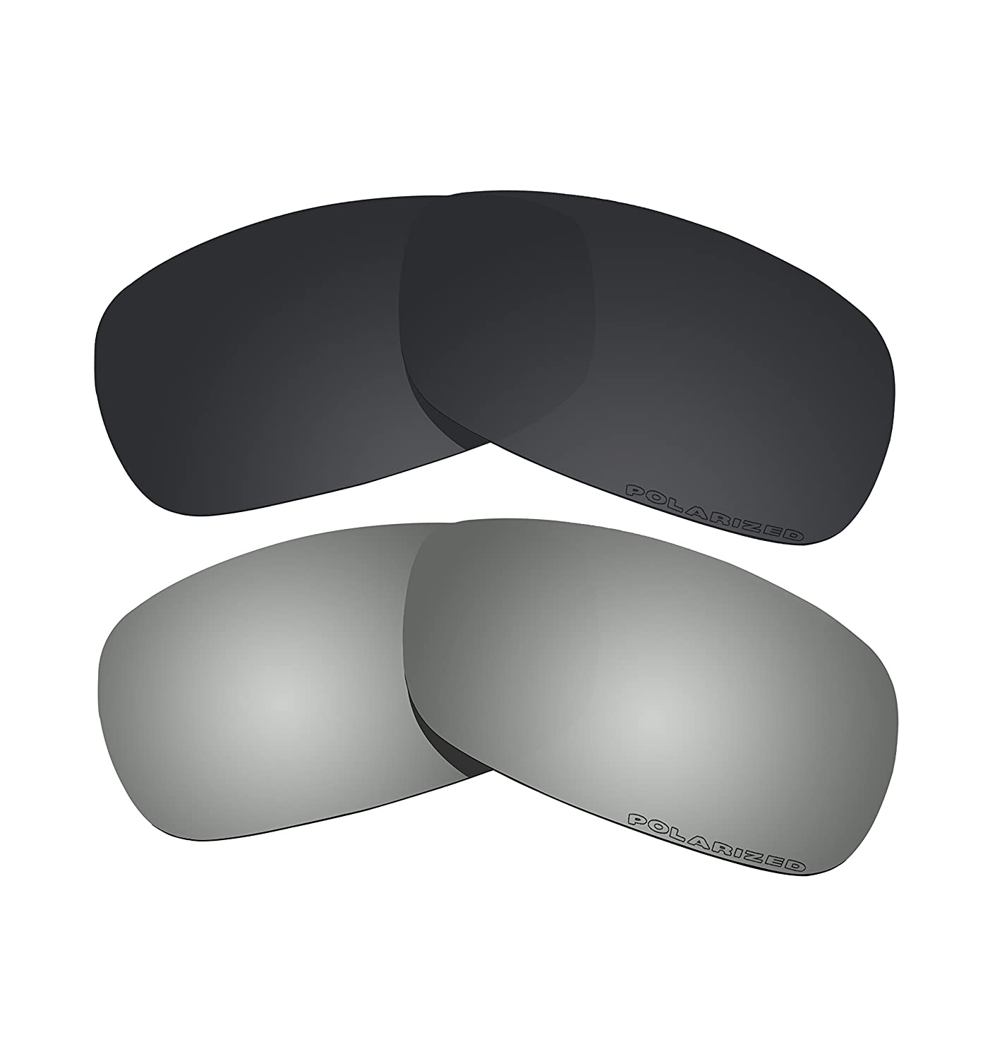 373c44034f Amazon.com   BVANQ 2 Pairs Polarized Lenses Replacement Black   Black Mirror  for Oakley Crosshair 2.0 (OO4044) Sunglasses   Sports   Outdoors