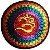 Coloré Om Symbol Spirituel Méditation Hindoue Patch '' 7,5 x 7,5 cm '' - Écusson brodé Ecussons Imprimés Ecussons Thermocollants Broderie Sur Vetement Ecusson Biker
