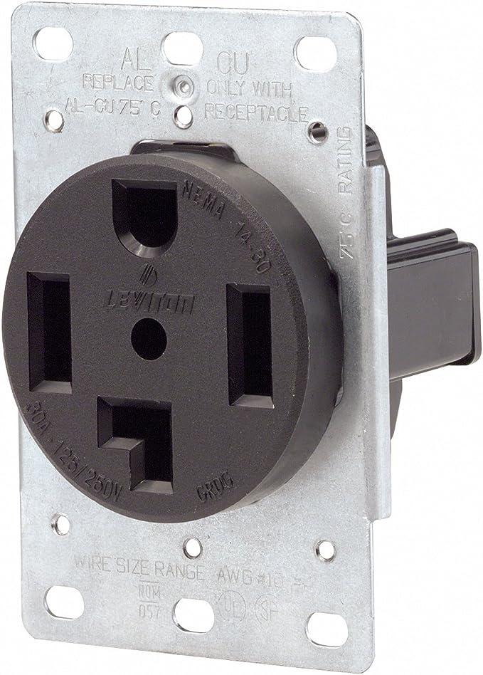 [DIAGRAM_1CA]  Leviton 071-00278-000 4 Wire 30 Amp 250 Volt Flush Mount Dryer Receptacle -  Range Plug Receptacles - Amazon.com | Wiring 4 Receptacles |  | Amazon.com