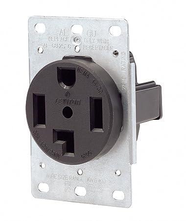 Amazon.com: Leviton 071-00278-000 4 Wire 30 Amp 250 Volt Flush ...