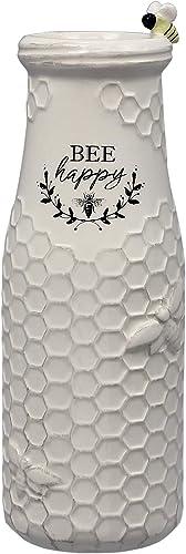 youngs Inc Ceramic Bee Flower Vase, Multi