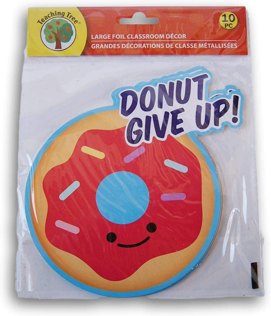Donut Give Up! Classroom Decor Foil Paper Cut-Outs - 10 Count