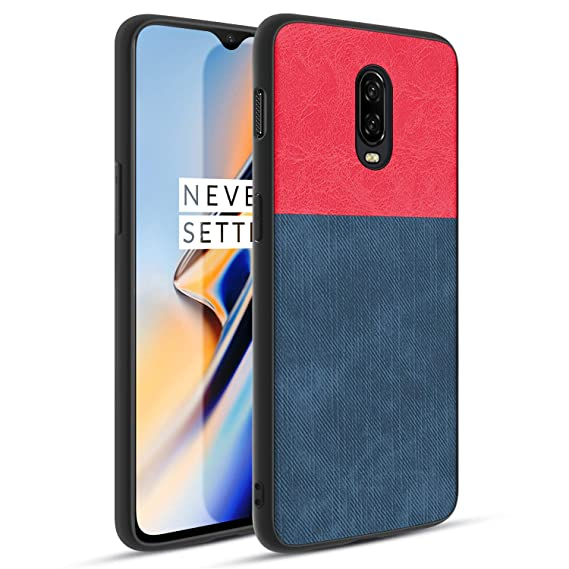 on sale 6e6d0 7fbd3 OnePlus 6T Case,TPU Soft Frame Washable Waterproof Full Body Coverage Phone  Case,Red Blue