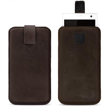 27262956ceb royalz de piel universal para smartphone 4 - 4,6 pulgadas Funda de piel  Vintage Funda Carcasa Cover Slim Case funda Sleeve Funda con función Pull  up piel ...