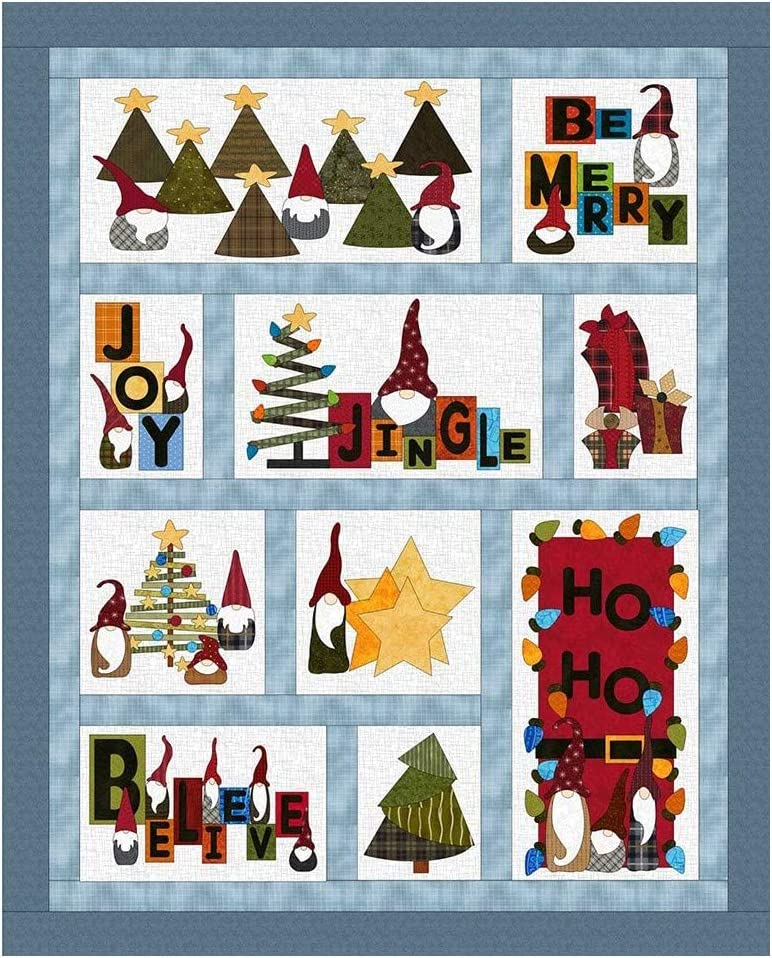 Fat Cat Patterns Gnome for The Holidays Applique, None