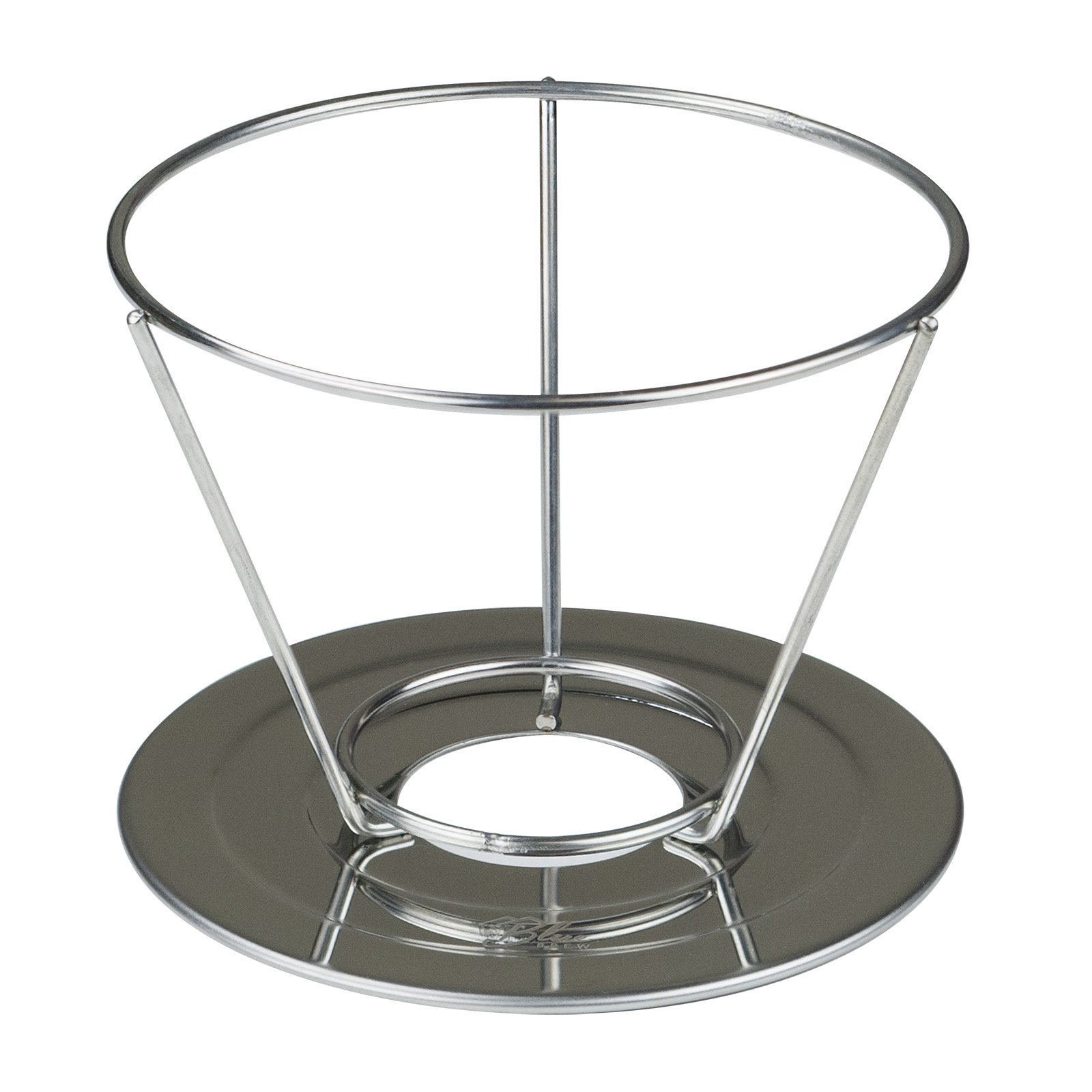 Blue Brew BB1005 Stainless Steel Double-Filtered Pour Over Coffee Dripper, with Separated Stand