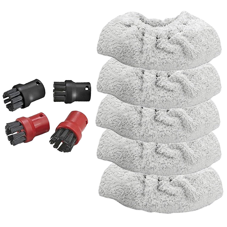 spares2go Hand Werkzeug Frottee Covers + 4Brush Düsen für Kärcher SC1Premium Dampfreiniger