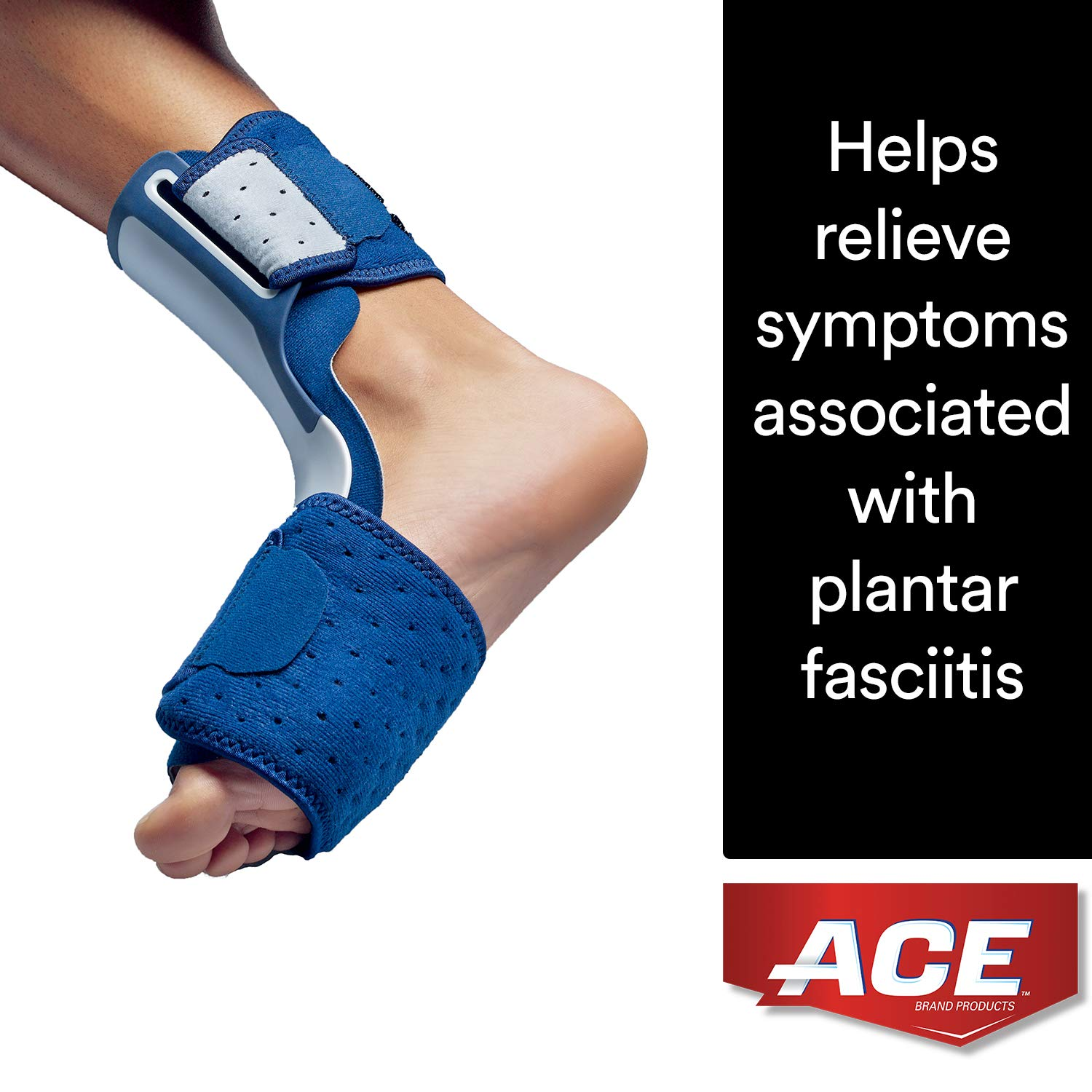 ACE Brand Plantar Fasciitis Sleep Support, America's Most Trusted Brand of Braces and Supports, Money Back Satisfaction Guarantee by ACE