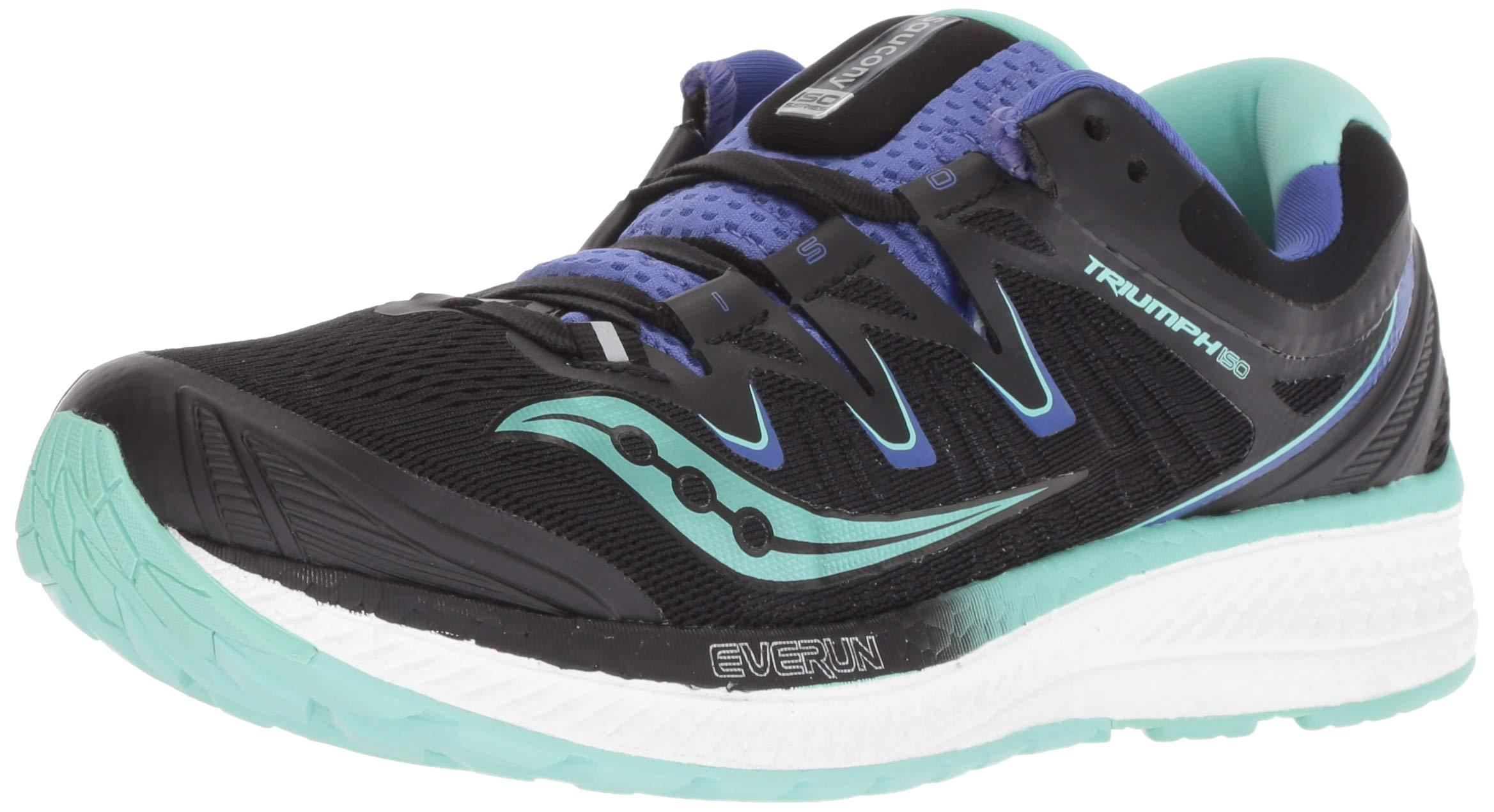 Saucony Women's Triumph ISO 4 Sneaker Black/Aqua/Violet 050 M US
