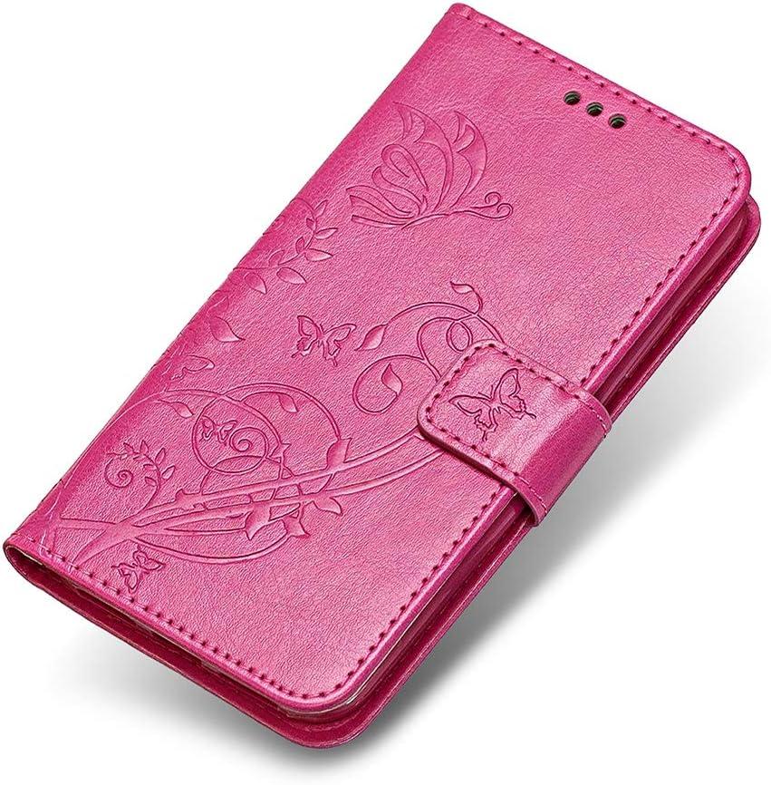 Rose The Grafu/® /Étui en Cuir de Premi/ère Qualit/é Portefeuille Housse avec Fonction Stand et Emplacements Carte pour Sony Xperia XZ2 Coque Sony Xperia XZ2