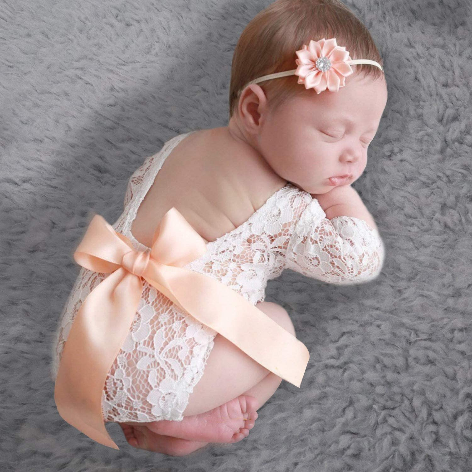 Girl Photography Prop Baby Girl Lace Romper Newborn Outfit Mauve Baby Romper Pink Romper Baby Girl Newborn Romper Pink Romper