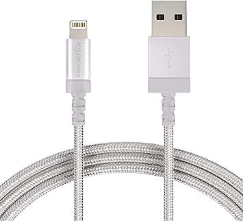 AmazonBasics Câble USB C vers Lightning en nylon tressé